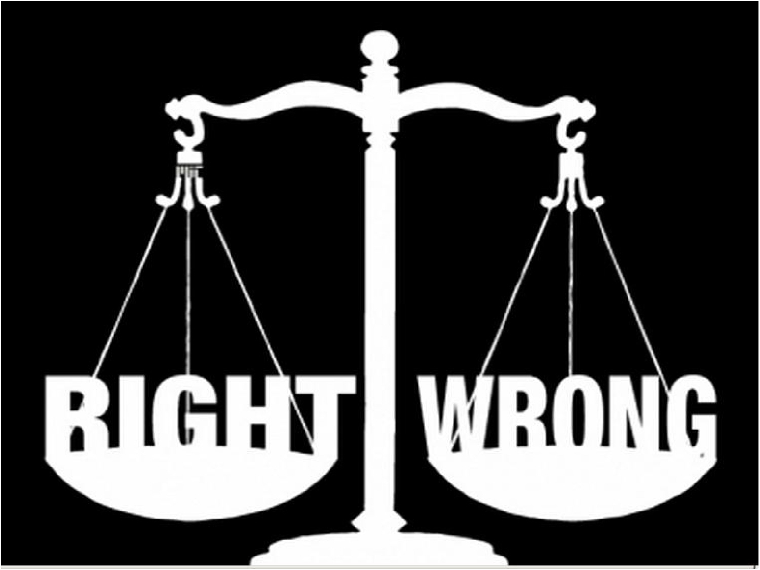 conflict between right and wrong in It typically amounts to little more than a skepticism about objective moral truth, often expressed as the idea that beliefs and actions are not right or wrong per se, only right or wrong for.
