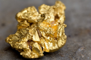 Brazil, Minas Gerais state, Ouro Preto, gold nugget from a mine (Gold Route, Estrada Real)