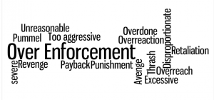 Over-enforcement words