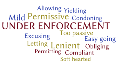 Under-enforcement words