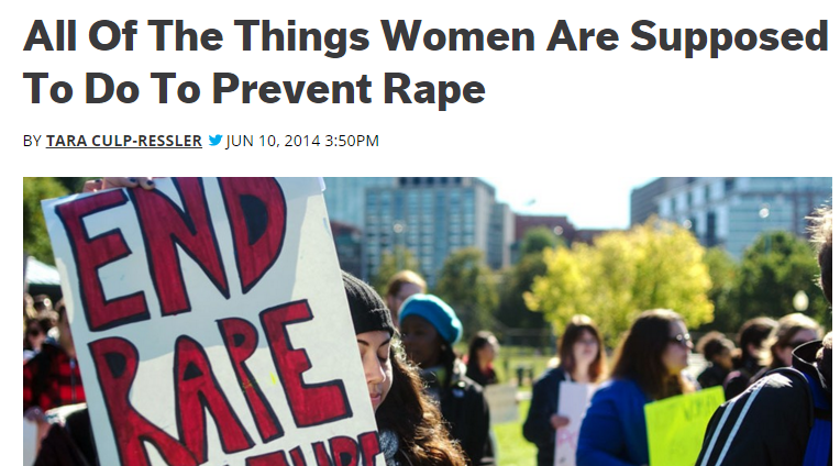 All Of The Things Women Are Supposed To Do To Prevent Rape