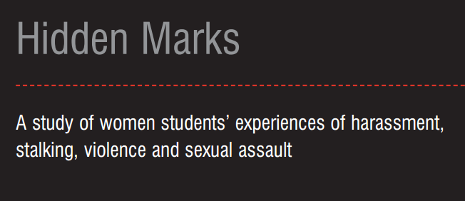 Hidden Marks: A study of women students' experiences of harassment, stalking, violence and sexual as