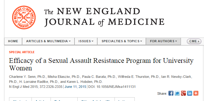 Efficacy of a Sexual Assault Resistance Program for University Women