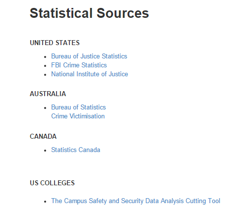 STATISTICS AND STUDIES LINKS