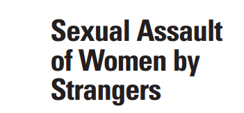 Sexual Assault of Women by Strangers