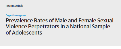 Prevalence rates of male and female sexual violence perpetrators in a national sample of adolescents