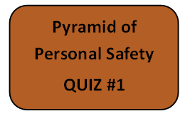 Pyramid of Personal Safety - Quiz #1